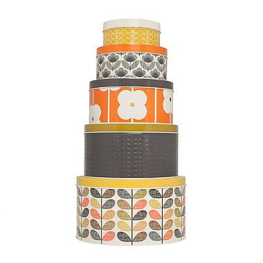 Orla Kiely Set of 5 Cake Tins - Multi Stem