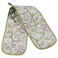 Mary Berry With Floral Double Oven Glove
