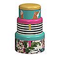 3 Lidded Nesting Round Cake & Biscuit Storage Tins - Joules Design