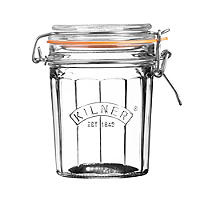 Kilner® Standard Clip Top Faceted Glass Jam Jar & Lid 450ml