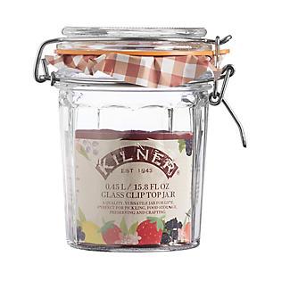 Kilner® Standard Clip Top Faceted Glass Jam Jar & Lid 450ml alt image 3