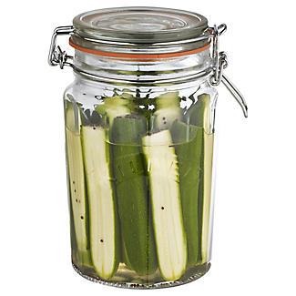 Kilner® Large Clip Top Faceted Glass Jam Jar & Lid 950ml alt image 2