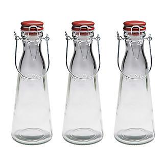 3 Kilner® Vintage Clip-Top Bottles 1 Litre