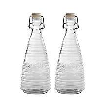 2 Kilner® Rippled Clip-Top Bottles 850ml