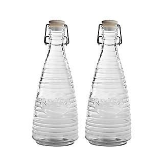 2 Kilner® Rippled Clip-Top Bottles 850ml