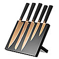 Viners Titan Copper 5pc Kitchen Knife Set & Magnetic Knife Rack