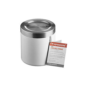 Typhoon® Hudson Small White Storage Tin