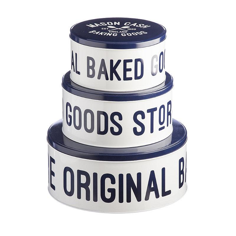 3 Lidded Nesting Cake & Biscuit Storage Tins