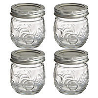 4 Ball® Fruit Design Small Glass Jam Jars