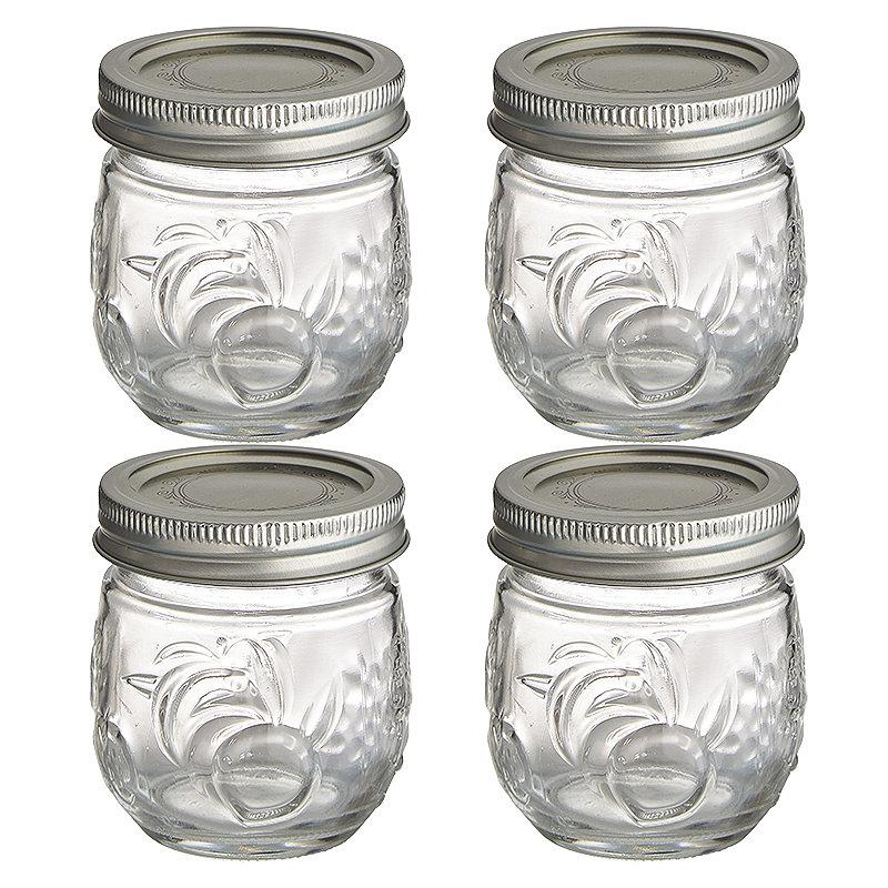 4 Ball® Fruit Design Small Glass Jam Jars