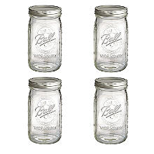 4 Ball® Wide Mouth Fruit Design Jam Jars and Lids 945ml