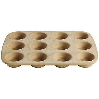 Lakeland Unglazed Earthenware 12 Hole Muffin Pan