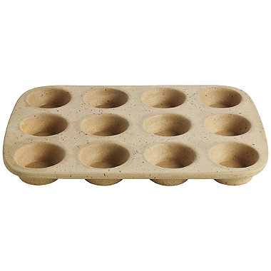 Lakeland Unglazed Earthenware 12 Hole Muffin Pan