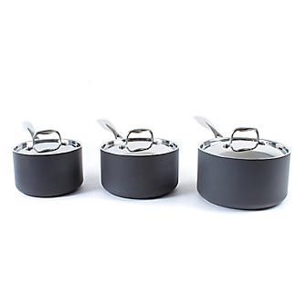 Lakeland Hard Anodised 3-Piece Saucepan Set alt image 2