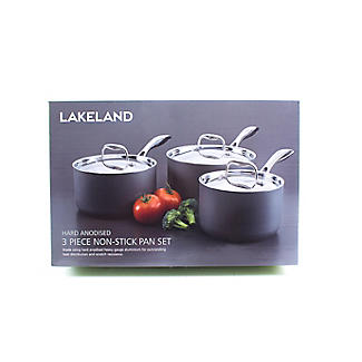 Lakeland Hard Anodised 3-Piece Saucepan Set alt image 3