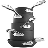 5-Piece Hard Anodised Saucepan Set