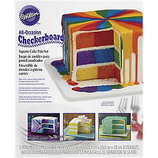 Wilton® Square Chequered Cake Pan Set alt image 3