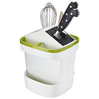 ILO Revolving Knife Block & Utensil Store White/Green