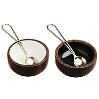 Just Slate Wooden Condiment Set