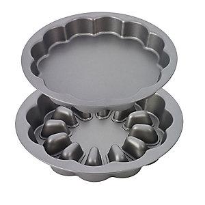 Runde 25,5-cm-Form für Schichtkuchen mit Füllung