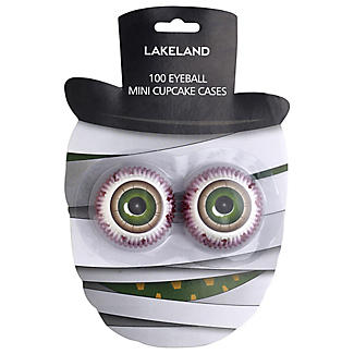 100 Halloween Eyeball Mini Cupcake Cases