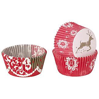 50 winterlich schmucke Cupcake-Manschetten