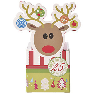 4 Reindeer Fun Treat Boxes