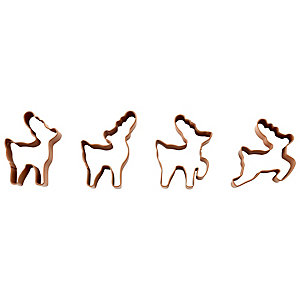 Wilton 4 Reindeer Cookie Cutters
