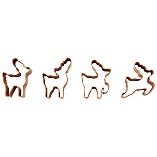 Wilton 4 Reindeer Cookie Cutters alt image 1