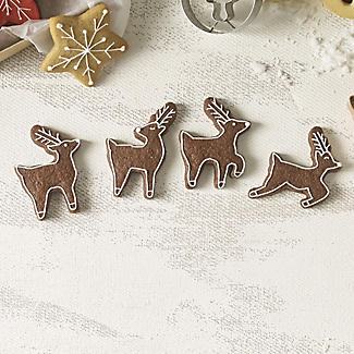 Wilton 4 Reindeer Cookie Cutters alt image 2