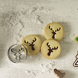 2 Piece Reindeer Cookie Cutter