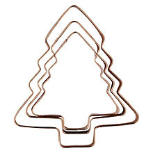 3 Copper Plated Christmas Tree Cutters