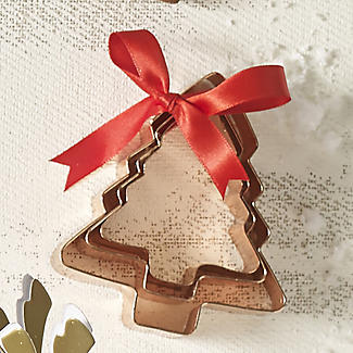 3 Copper Plated Christmas Tree Cutters alt image 3