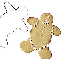 Copper Plated Large Gingerbread Man Cutter