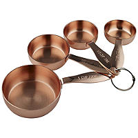 4 Copper-Plated Measuring Cups