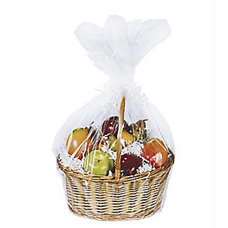 Clear Christmas Hamper Basket Bag 60 x 63cm