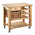 Eddingtons Single Drawer Lambourn Trolley with Wine Rack