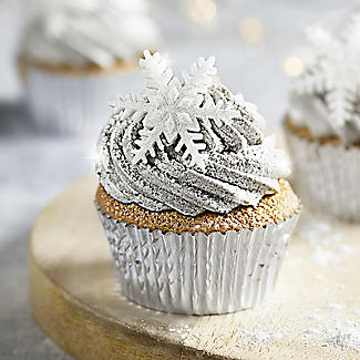 9 Sparkly Snowflake Sugarcraft Cake Toppers alt image 2