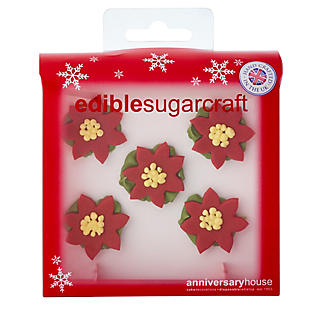 5 Poinsettia Sugarcraft Cake Toppers alt image 2