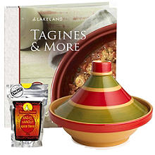 Traditional Tagine and Recipe book with Spice Mix Bundle