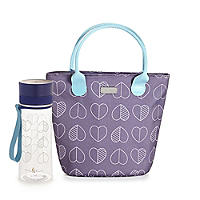 Hearts Lunch Tote & Hearts Bottle Bundle
