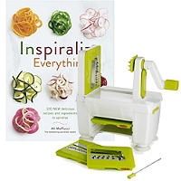 Easy Store Spiralizer and Inspiralized Book Bundle