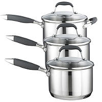 Lakeland Stainless Steel Saucepans Bundle