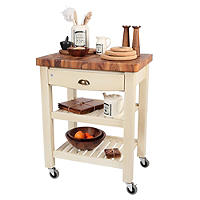 T&G Pembroke Trolley with Acacia Worktop