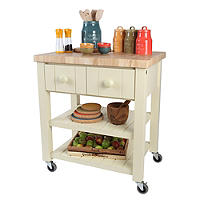 T&G New England Trolley with Hevea Worktop