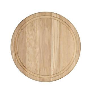 T&G Round Oak Serving Board