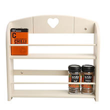 T&G 12-Jar Wall-Mounted Spice Rack Cream