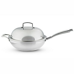 Lakeland 30cm TriPly Lidded Wok