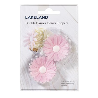 Lakeland Pink Double Daisies Flower Cake Toppers