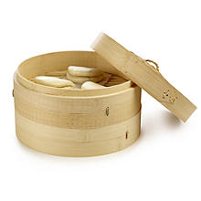 School of Wok 2-Tier Bamboo Steamer